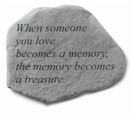 Garden Memorial Stone - When Someone You Love...
