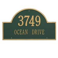 Arch Address Plaque 24L x 14H (2 Lines)