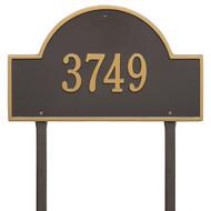 "Arch  Marker Estate Lawn Address Plaque 24""W x 14""H (1 Line)"