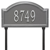 Providence Arch Address Lawn Plaque 17Lx10H (1 Line)