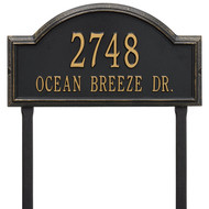 Providence Arch Address Lawn Plaque 23Lx12H (2 Line)