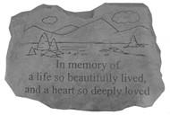 In Memory of a Life Memorial Stone
