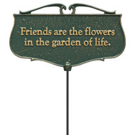 """""""Friends Are The Flowers In The Garden Of Life"""" Garden Poem Sign"""