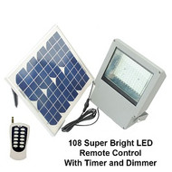 Solar Goes Green LED Solar Flood Light Remote Control with Timer and Dimmer