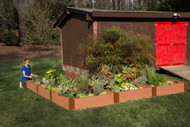 "1"" Series Frame It All Raised L-Shaped Garden Bed (12' x 12"" x 11"")"
