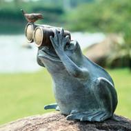 "Frog Spectator Sculpture 13""H"