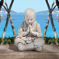 """Praying Baby Buddha Garden Statue 21""""H"""