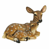 """Mother's Love"" Doe and Fawn Garden Statue 14""H"