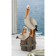 "Oceans Perch Pelican Statue 24""H"