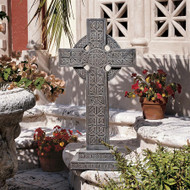 "Bannockburn Celtic Cross Sculpture 28""H"