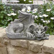 """Blushing Babel, The Bashful Dragon Statue 9""""H"""
