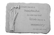 Death Leaves a heartache...w/Daffodil Memorial Stone
