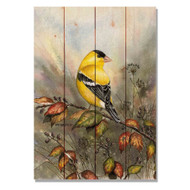 """Backyard Gold Bird Wall Art 14"""" x 20"""""""