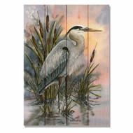 """First Light Heron Wall Art 14"""" x 20"""""""