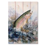 """Rainbow Trout Wall Art 14"""" x 20"""""""