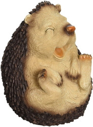 """Roly-Poly Laughing Hedgehog Statue  6.5""""H"""