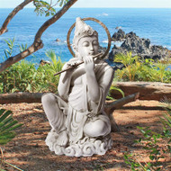"Byodo-In Temple Bodhisattva Garden Statue 22""H"