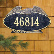 "Oval Eagle Estate Address Plaque 24""W x 14""H (1 Line)"