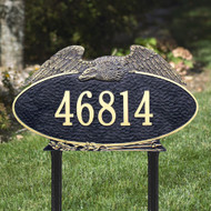 "Oval Eagle Estate Lawn Address Plaque 24""W x 14""H (1 Line)"