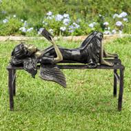 """Reading Angel Garden Sculpture 22""""W"""