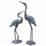 "Heron Pair Garden Sculpture 37""H"