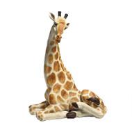 """Zari, the Resting Giraffe Statue 20.5""""H"""