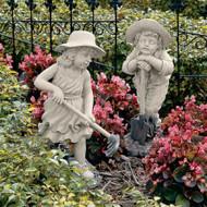 """Young Gardeners Sculptures 23""""H"""