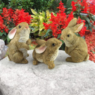 "The Bunny Den, Garden Rabbit Statues 5""H"