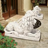 "Lyndhurst Manor Lion Sentinel Statues 27""W"