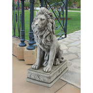 "Fouquet Royal Palace Sentinel Lion Statue 30""H"