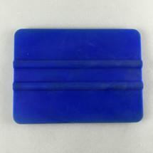 """4"""" PVC Bump Card Squeegee - Blue"""