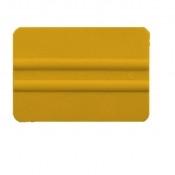 "4"" Lidco Bump Card Round Corner Squeegee - Yellow"