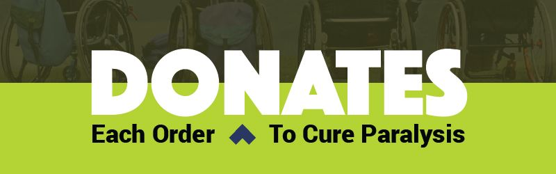 Living Spinal donates to cure paralysis and help those living in wheelchairs.