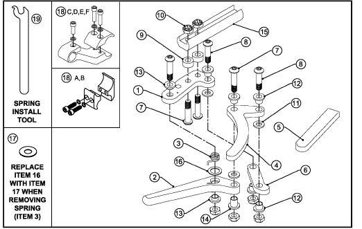 Push To Lock Aluminum Scissor Locks For Tilite Wheelchairs