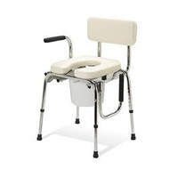 Medline Industries Padded Drop Arm Commode - 350 lb Limit