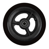 "4 x 1"" 3 SPOKE CASTER Urethane Round Tire"