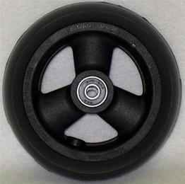 Hollow Spoke Caster Wheel Urethane Wide Tire 5 X 1 1 2