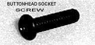 BUTTON HEAD SOCKET CAP SCREWS 10 PACK