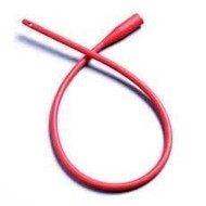 Apogee Intermittent Catheter, Red Rubber, Straight Tip - 16""
