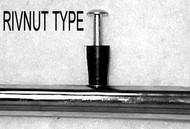Rivnut Type Push Rims Aluminum, Chrome Plated, Projection and Vinyl Coated Handrims