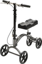 DV8 Steerable Knee Walker Aluminum-Silver Vein Finish - Drive Medical