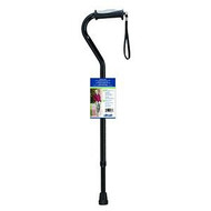 Aluminum Offset Cane with Gel Grip Black H Handle Tubing