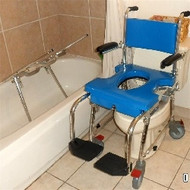Go-Anywhere Commode, Shower, and Tub Chair