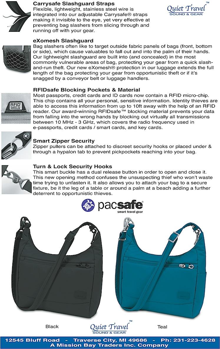 Authentic Pacsafe Citysafe Cs100 Anti Theft Rfid Safe Travel Handbag Ebay