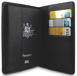 Pacsafe RFIDexecutive 75 RFID Blocking Leather Passport Wallet