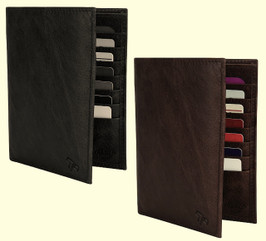 RFID Blocking Leather Passport Wallet