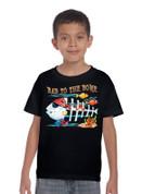 Kids T-Shirt Bad to the Bone on Black