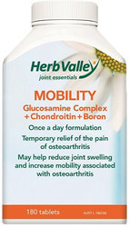 Mobility Glucosamine Complex plus Chondroitin plus Boron 180 Tablets Herb Valley