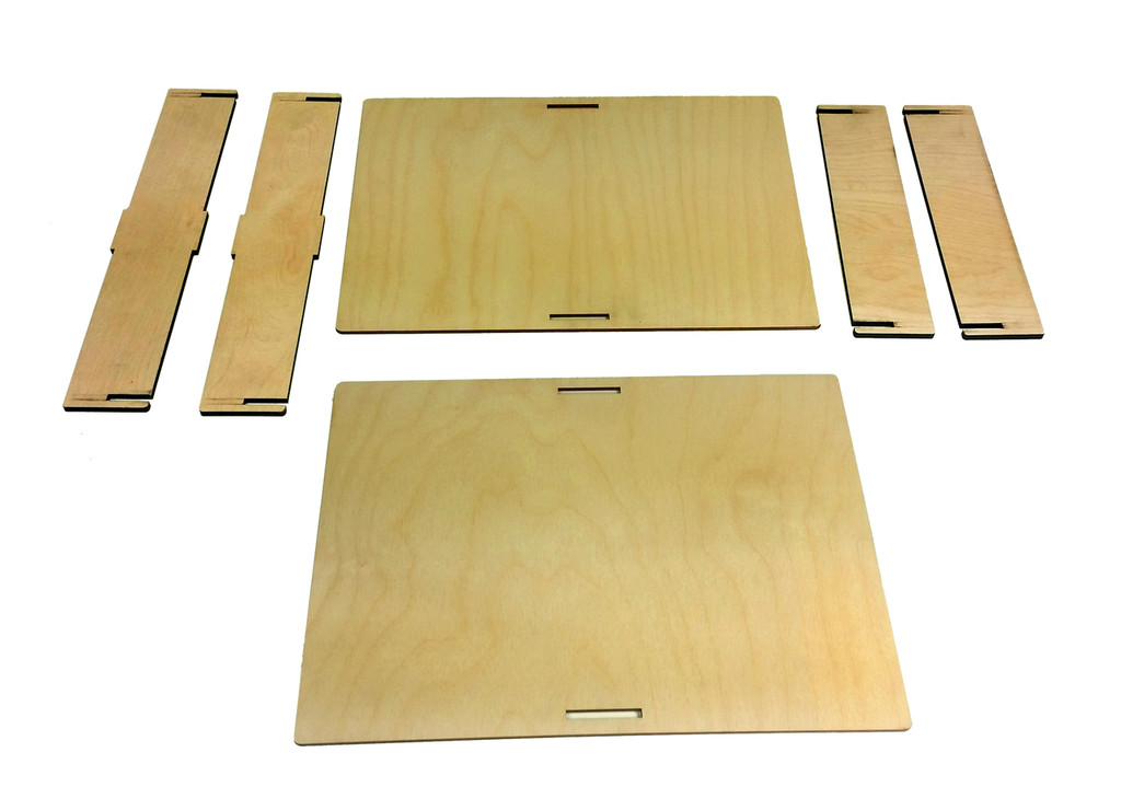 "9 x 12"" Acoustic Wooden Box Kit - Easy to Assemble!"