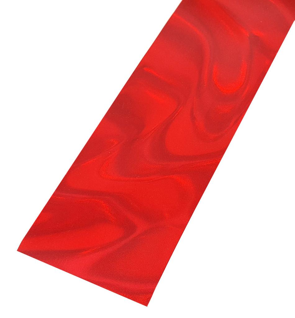 """Red Swirl Lap Steel (2.75"""") Acrylic Fretboard Underlay"""